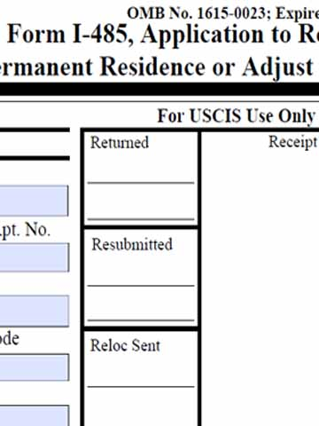 Form I-485 Adjustment of Status Lawyer