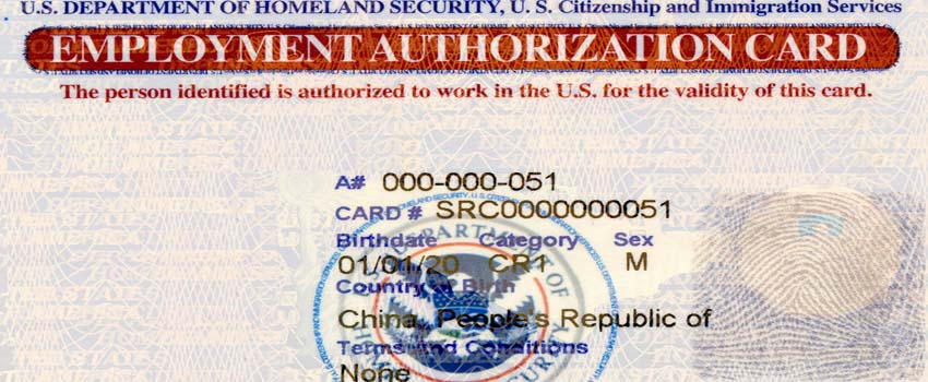 Application For Employment Authorization Form I Immigration Guide
