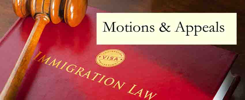 Help With Form I 290b Immigration Appeal Or Motion Immigration Lawyer