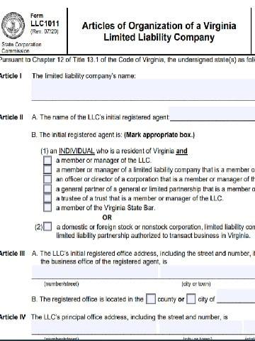 LLC registration